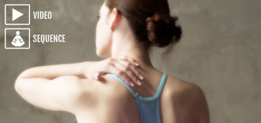 Yoga practice for neck tension