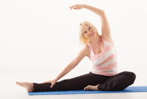 Yoga Revolved Head to Knee Pose
