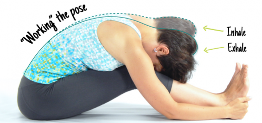 How to hold a yoga pose