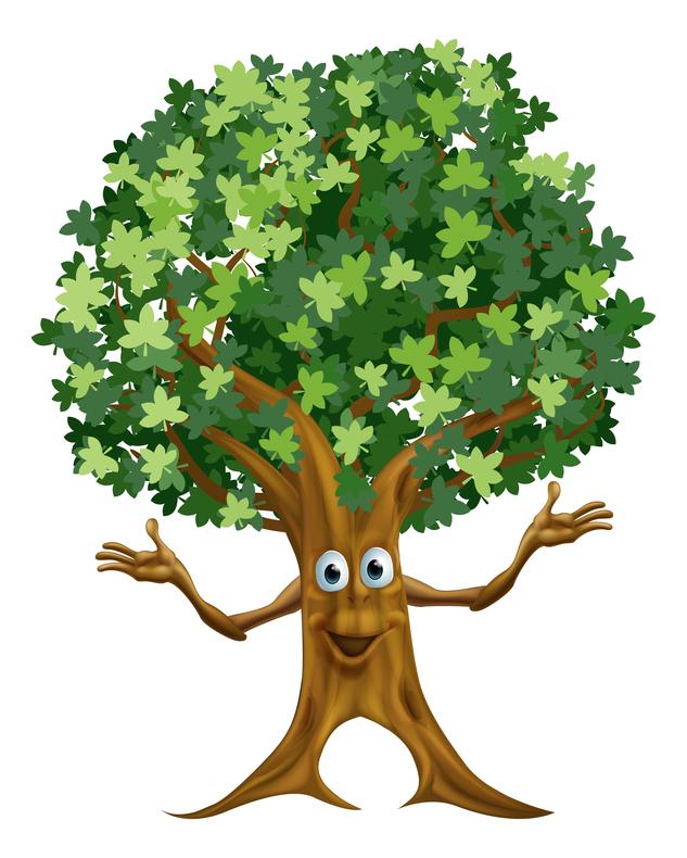 Открытки днем, рисунки смешных деревьев