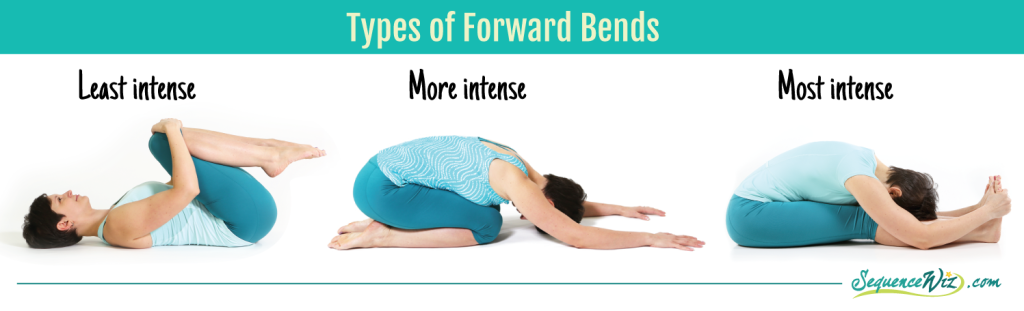 Types of forward bends
