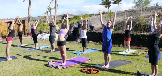 Leading a yoga retreat