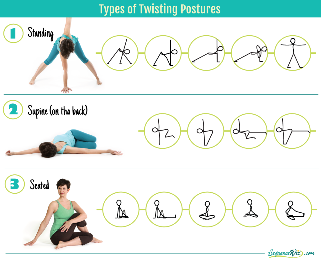 Types of twisting poses