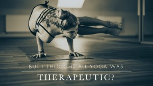 Therapeutic yoga