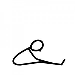 Paschimottanasana. To stretch the back and neck, to restore symmetry.