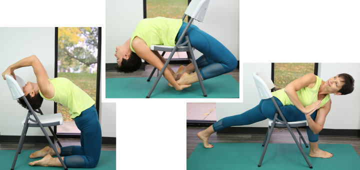 types of chair yoga poses