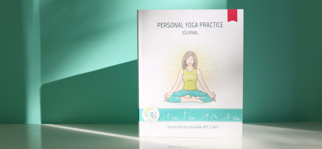 Personal home yoga practice journal