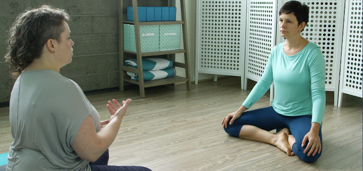 Set intention for yoga class