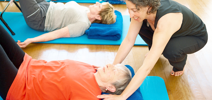 teaching yoga in medical center